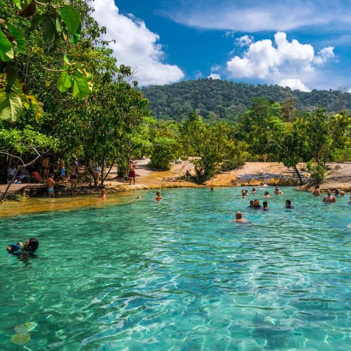 emerald pool hot spring waterfall tour krabi
