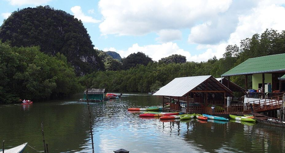 half day kayaking trip sea krabi