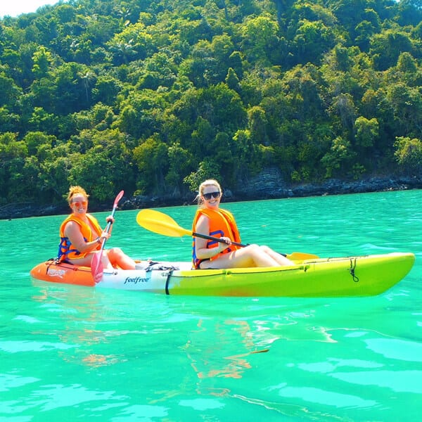 kayaking at hong islands from krabi