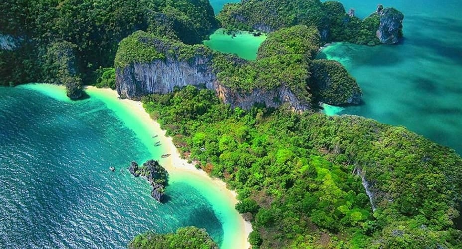hong islands aerial tour from krabi