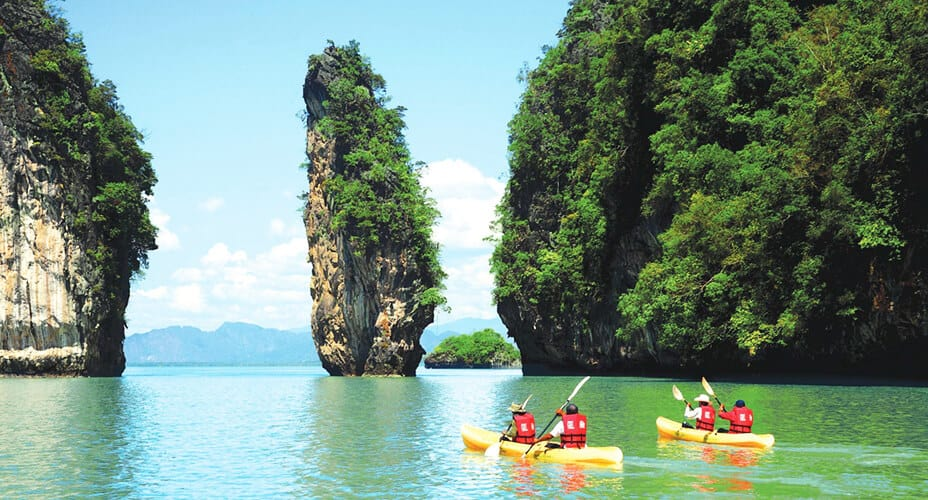 krabi kayaking tour day trip excursion