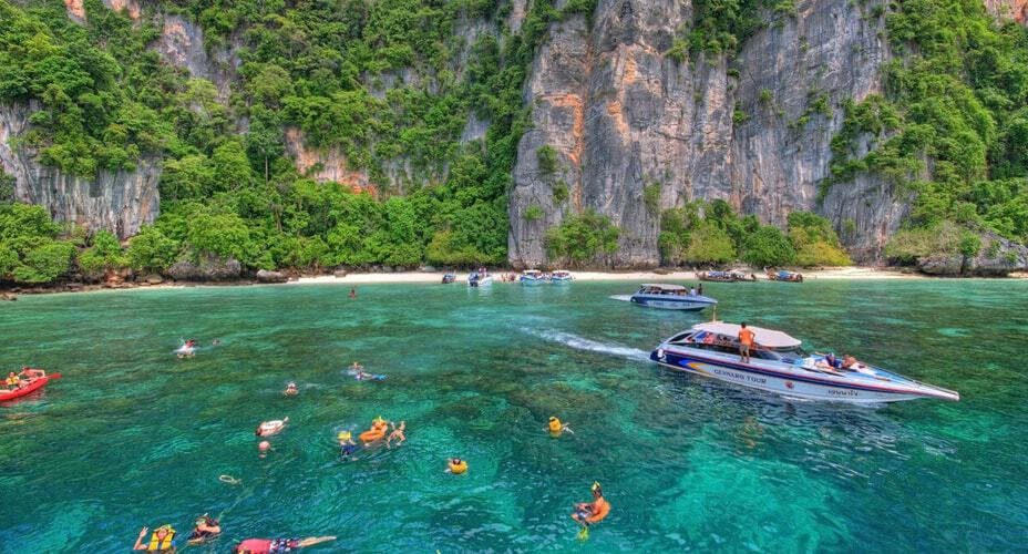 speed boat tour from krabi to phi phi