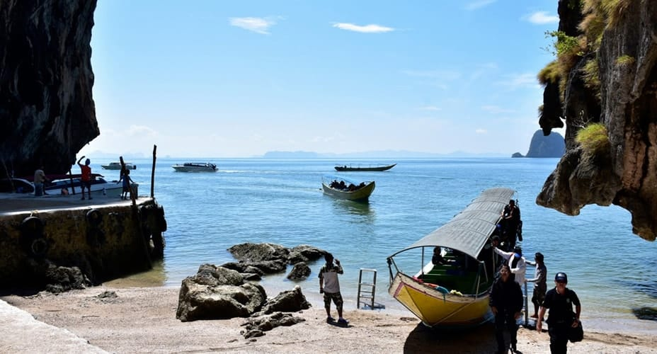 longtail boat tour to james bond island from ao nang